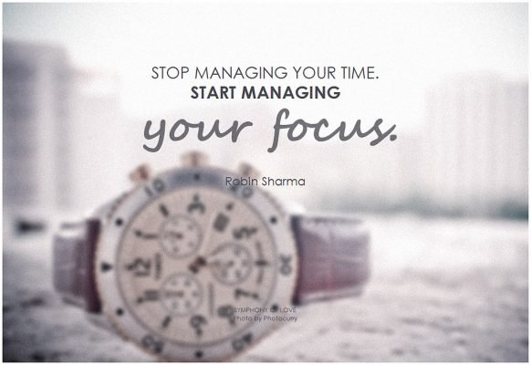 time management with purpose