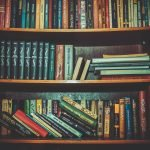 book reviews.Books on a bookshelf